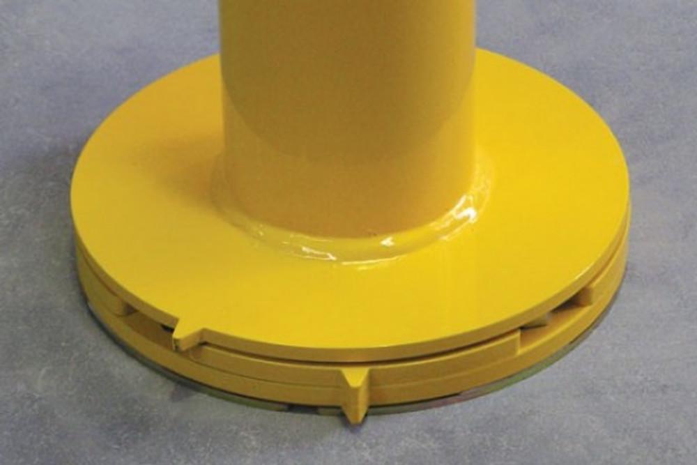 CAM-LOK 90mm dia.surface mount bollard Galv & P/Coat (SMCLH req.)
