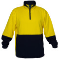 Hi Vis Cotton 1/4 Zip Fleece YLW/NVY A/Pill A/Static (XLarge)