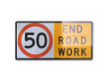 1200x600 Zinc Plate END ROADWORK 50 / WORKMAN 40 D/SIDED HI-INT