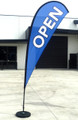 Teardrop flag OPEN Medium - BLUE (flag, pole & bag)