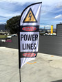 Feather flag DANGER POWERLINES Small (flag, pole & bag)