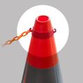 Cone Ring to suit Plastic Chain (Pair) - Orange ABS Plastic