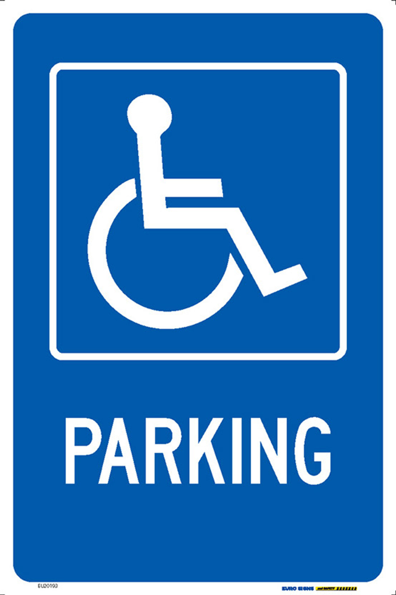 - DISABLED PARKING 300x450 MTL - Euro Signs And Safety