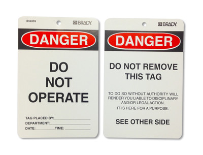 DANGER DO NOT OPERATE - POLY x10