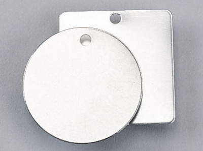 51mm Blank Stainless Steel SQUARE Metal Tag - x25