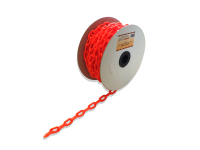 Plastic Safety Chain - ORANGE 6mm - PER METRE
