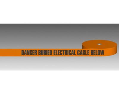 U/Ground Tape DANGER - BURIED ELECTRICITY MAIN BELOW 100mmx250m - PLAIN