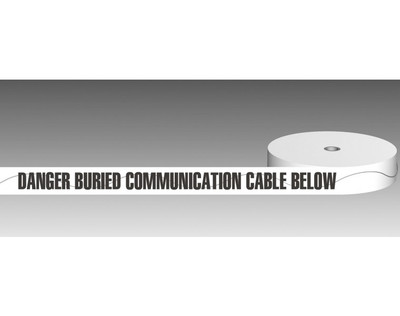 U/Ground Tape DANGER - BURIED COMMUNICATION CABLE BELOW 100mmx250m - DETECTABLE