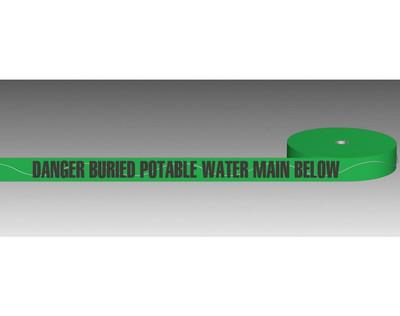 U/Ground Tape POTABLE WATER 100mmx250m - DETECTABLE
