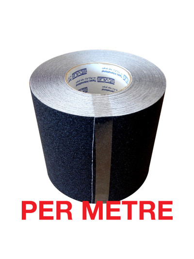 150mm Anti-Slip Tape BLACK - PER METRE