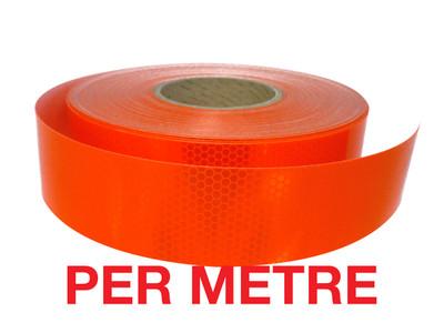 50mm Class 1 Tape FLUORO ORANGE - PER METRE