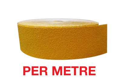 60mm Carbide Nosing Tape YELLOW - PER METRE