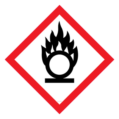 GHS Label OXIDISING 50x50 - Pack x12 Decals