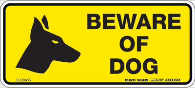 BEWARE OF DOG 200x90 MTL