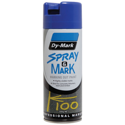 Spray & Mark Paint DYMARK -BLUE 350g