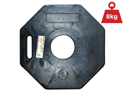 Rubber 8kg BASE - 8kg T-Top BASE ONLY