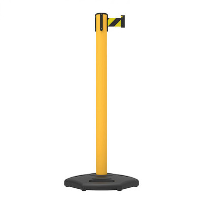 Portable Belt Post Yellow, Blck/Ylw Belt 3m