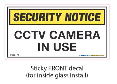 CCTV CAMERA Adhesive Front 140x74 DECAL