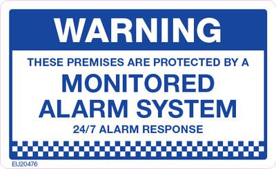 WARNING MONITORED ALARM 90x55 DECAL