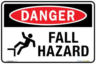 DANGER FALL HAZARD 450x300 MTL