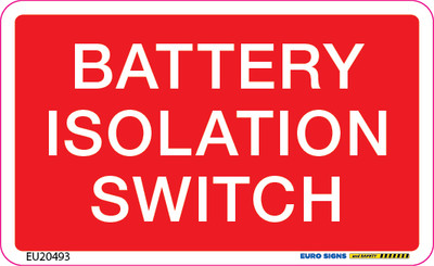 BATTERY ISOLATION SWITCH 90x55 DECAL