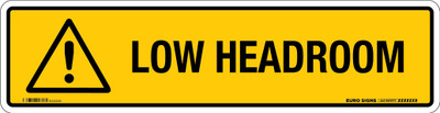 LOW HEADROOM 350x90 DECAL