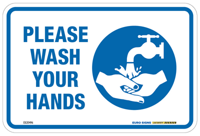 PLEASE WASH YOUR HANDS 150x100 Decal