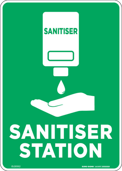 SANITISER STATION 210x150 POLY