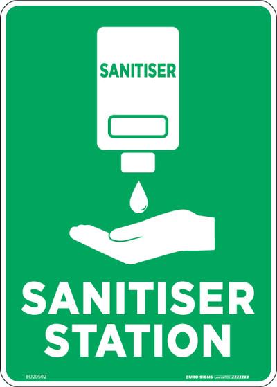 SANITISER STATION 210x150 POLY