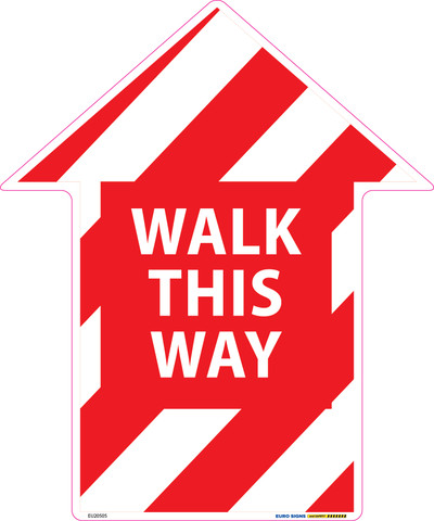 250x300 WALK THIS WAY ARROW Floor Graphic Decal