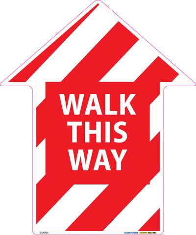 250x300 WALK THIS WAY ARROW Floor Graphic Decal