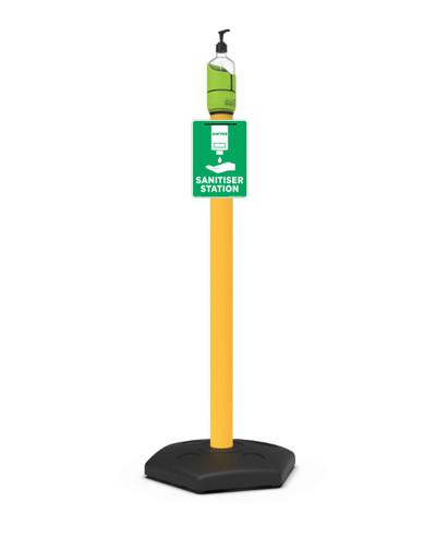 Sanitiser Station Package: UPVC Post & Base  / Pump Bottle / Sign