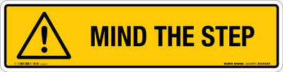 MIND THE STEP 350x90 DECAL