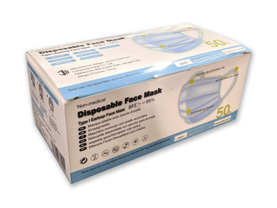 Box of 50 Disposable Face Masks