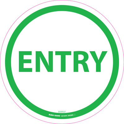 ENTRY GREEN 250mm OD Floor Graphic Decal