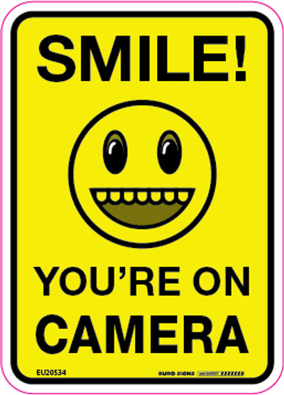 SMILE! YOU'RE ON CAMERA 90x125  DECAL