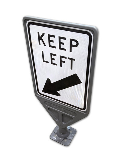 Kangou Keep Left (450x600mm) 360 Degree Impact Resistant Sign