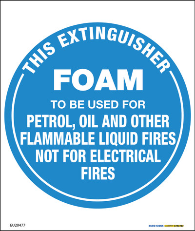 THIS EXTINGUISHER FOAM BLUE 190x225 POLY