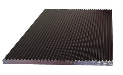 BLACK Anodised 1.2 mtr x 50mm FLAT CORRUGATED