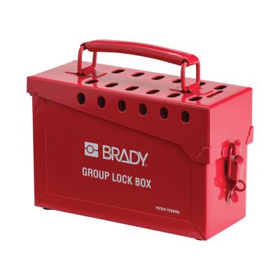 Group Lock Box Red (13 Lock Portable Lock Box)