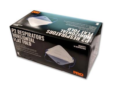 HORIZONTAL FLAT FOLD P2 RESPIRATOR BOX OF 10