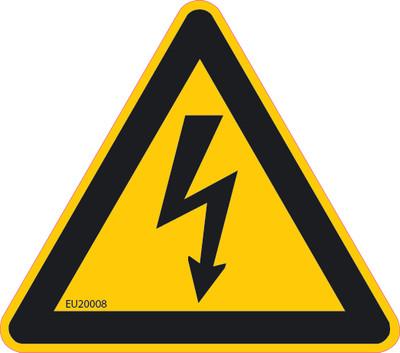 ELECTRICAL HAZARD Triangle 89x78 DECAL