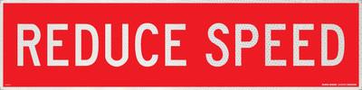 REDUCE SPEED 1200x300 Corflute HI-INT WHT/RED