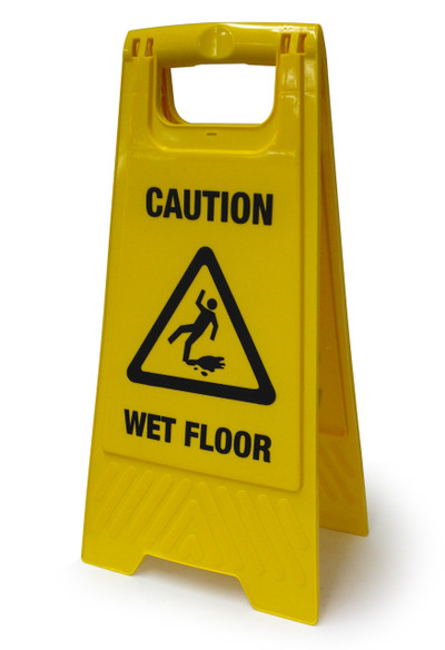 Wet Floor Stand A-Frame 300mm x 600mm plastic double sided
