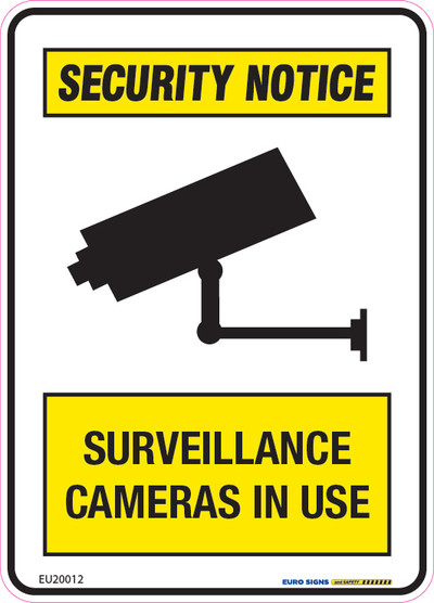 SURVEILLANCE CAMERAS 90x125 DECAL