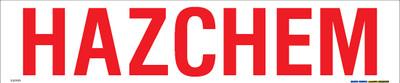 HAZCHEM RED/WHT 600x125 MTL