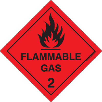 Class Label FLAMMABLE GAS 2 270x270 DECAL