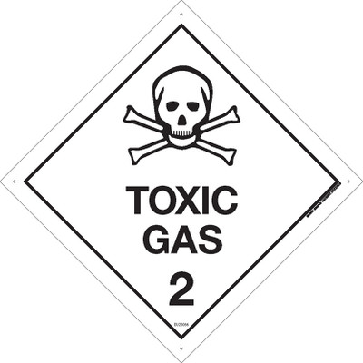Class Label TOXIC GAS 2 270x270 DECAL