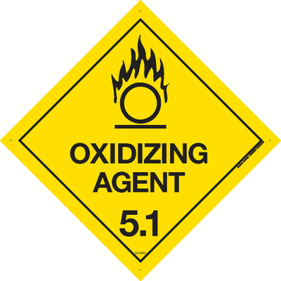 Class Label OXIDIZING AGENT 5.1 270x270 DECAL