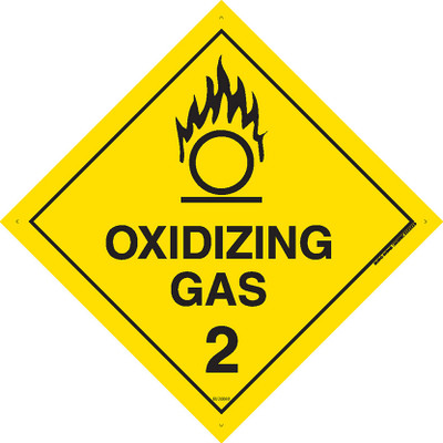 Class Label OXIDIZING GAS 2 270x270 DECAL